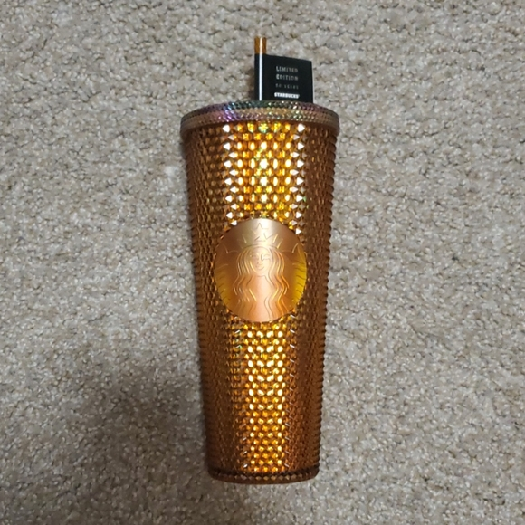 50 Year Anniversary Gold Studded Starbucks Cups